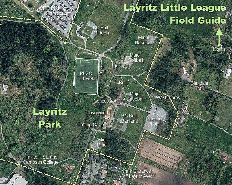 Layritz Baseball Field Map